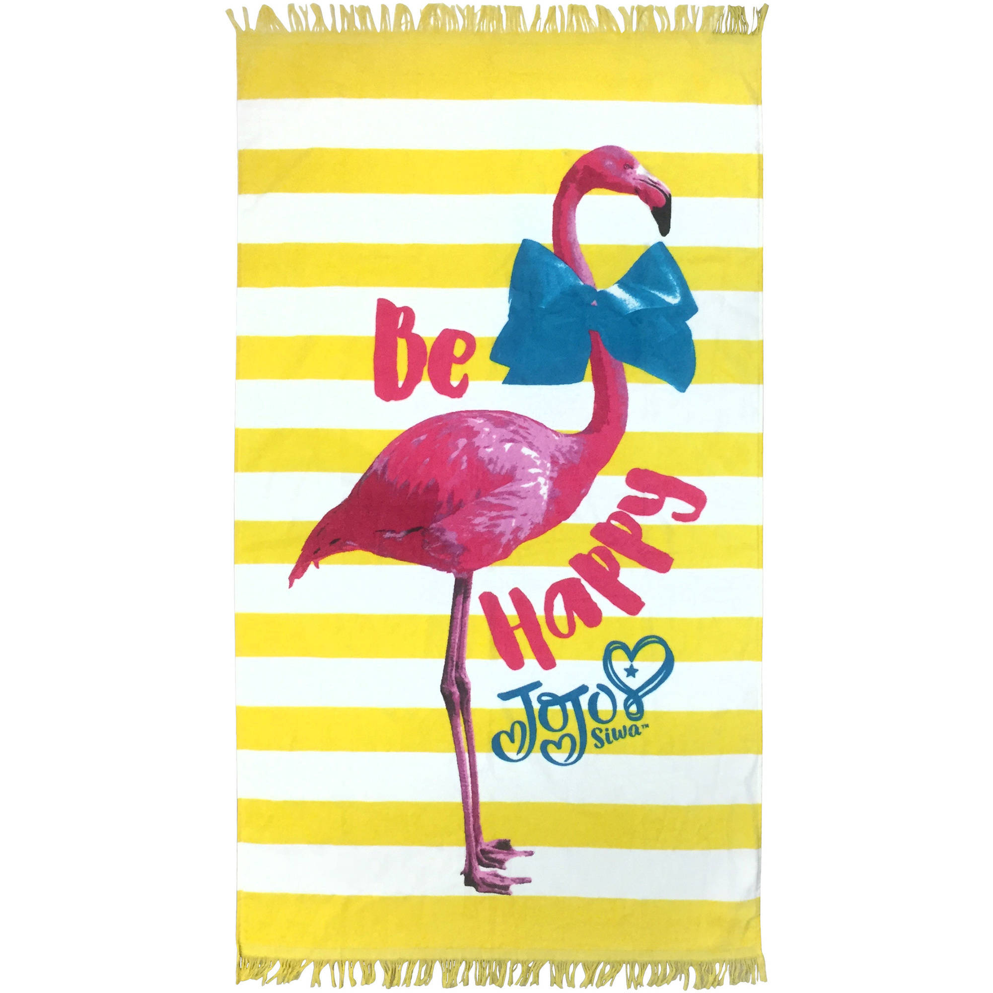 JoJo Siwa Flamingo Yellow Cotton Bath/Pool/Beach Towel