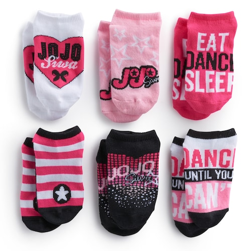 JoJo Siwa No Show Girls Socks 6 Pair