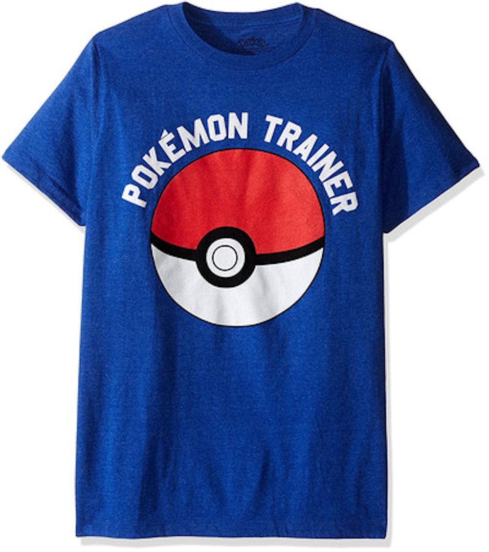 Pokemon Men's Trainer Short Sleeve T-Shirt, Royal Heather, Large