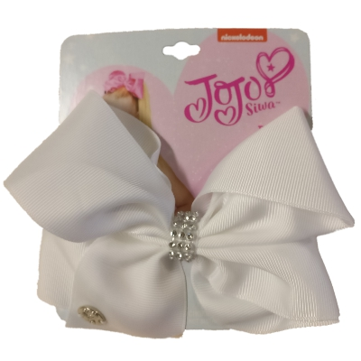 JoJo Siwa Medium Hair Bow (White)