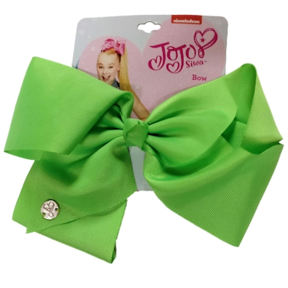 JoJo Siwa Large Cheer Hair Bow (Neon Green)