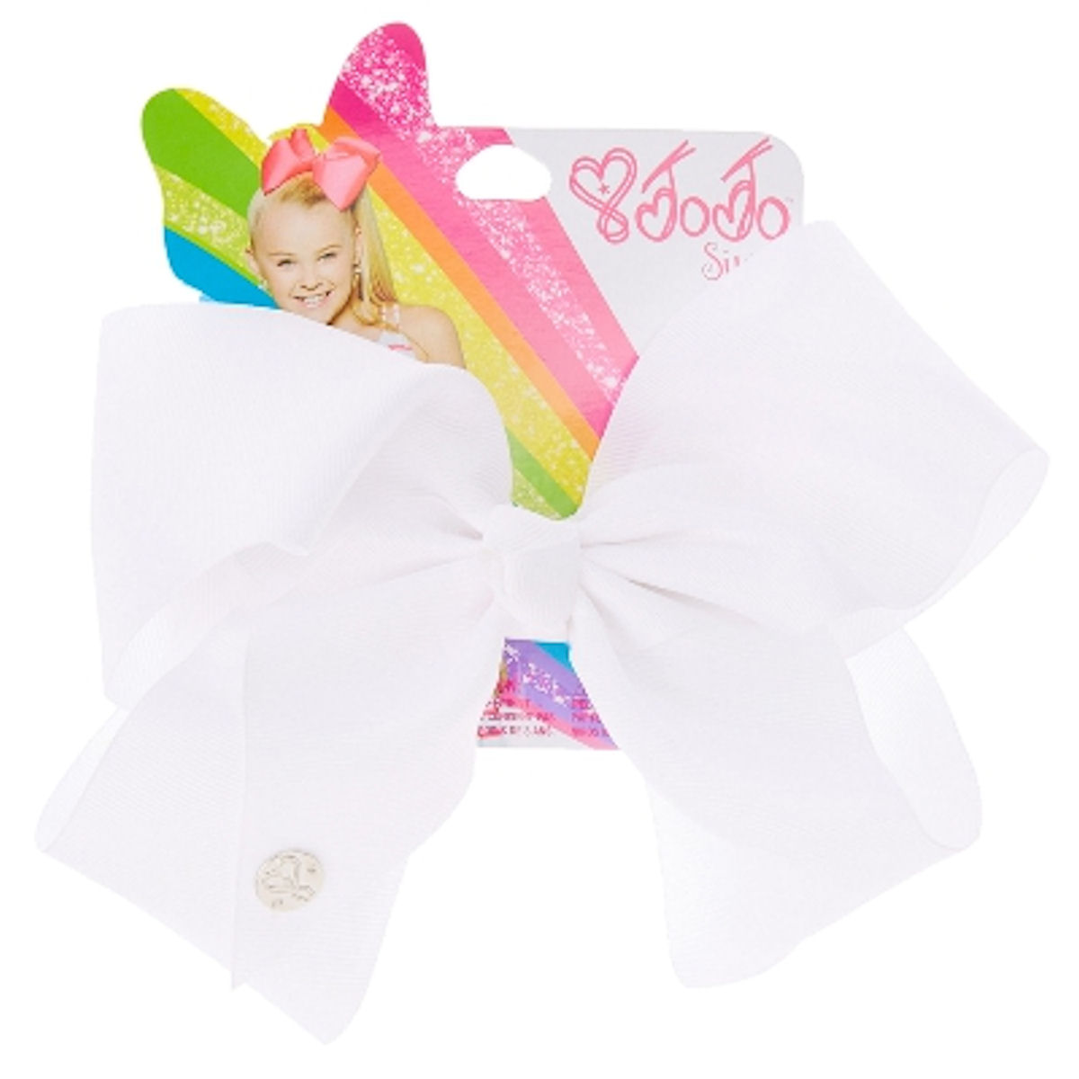 JoJo Siwa Large Cheer Hair Bow (White)
