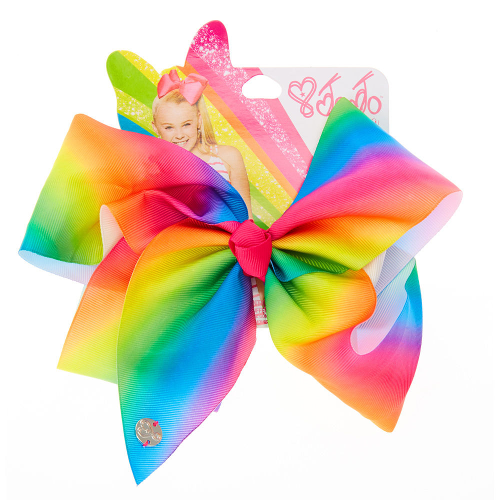JoJo Siwa Large Cheer Hair Bow (Rainbow)
