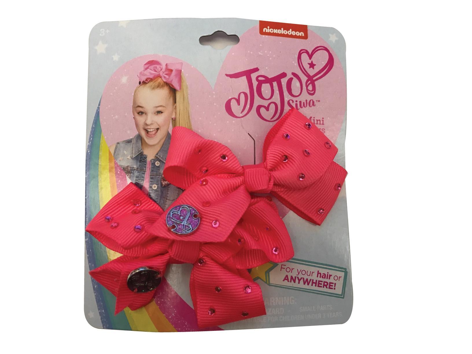 JoJo Siwa Small Hair Bow Set (Coral Pink)