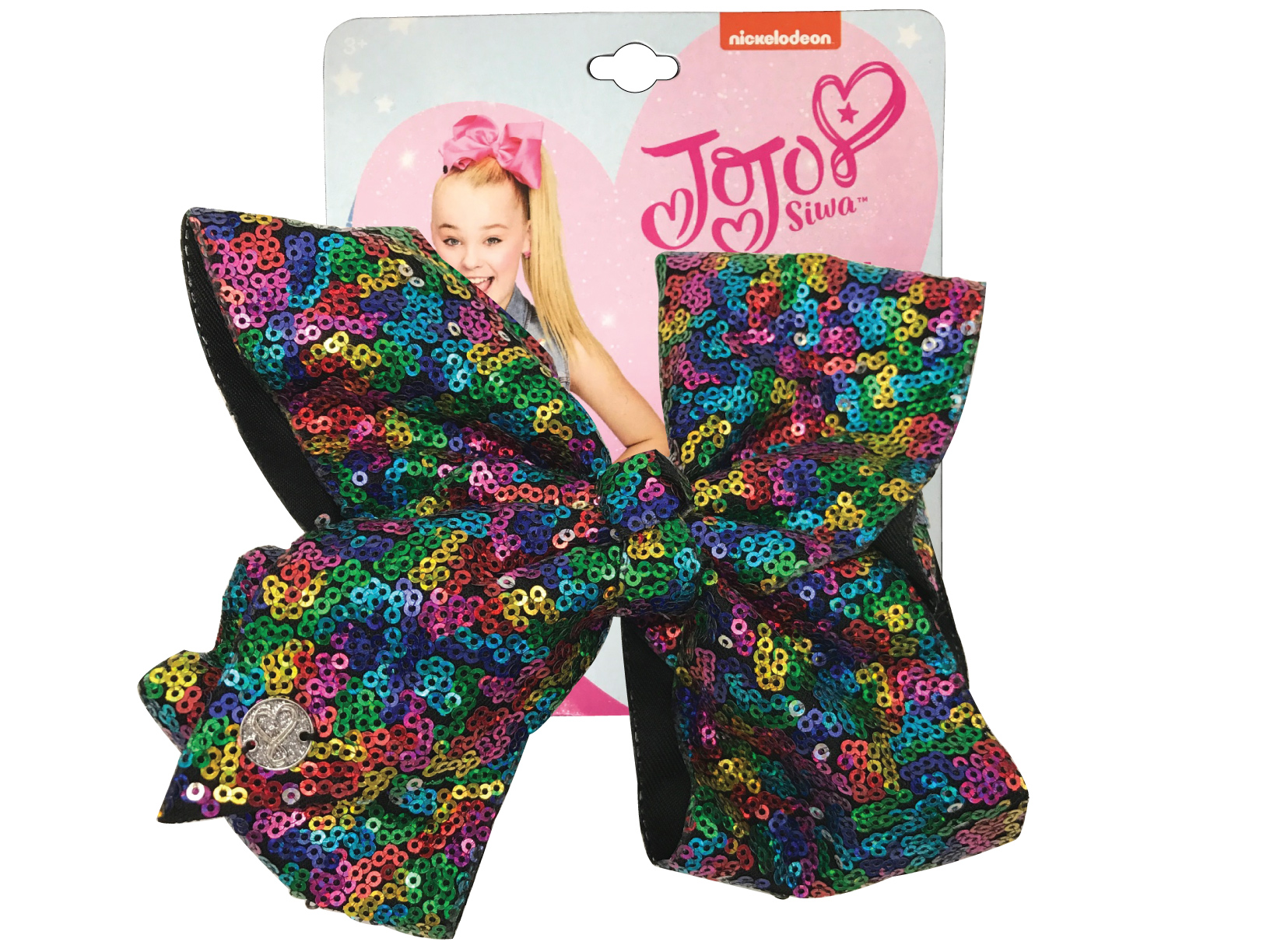 JoJo Siwa Large Cheer Hair Bow (Rainbow Sequined)