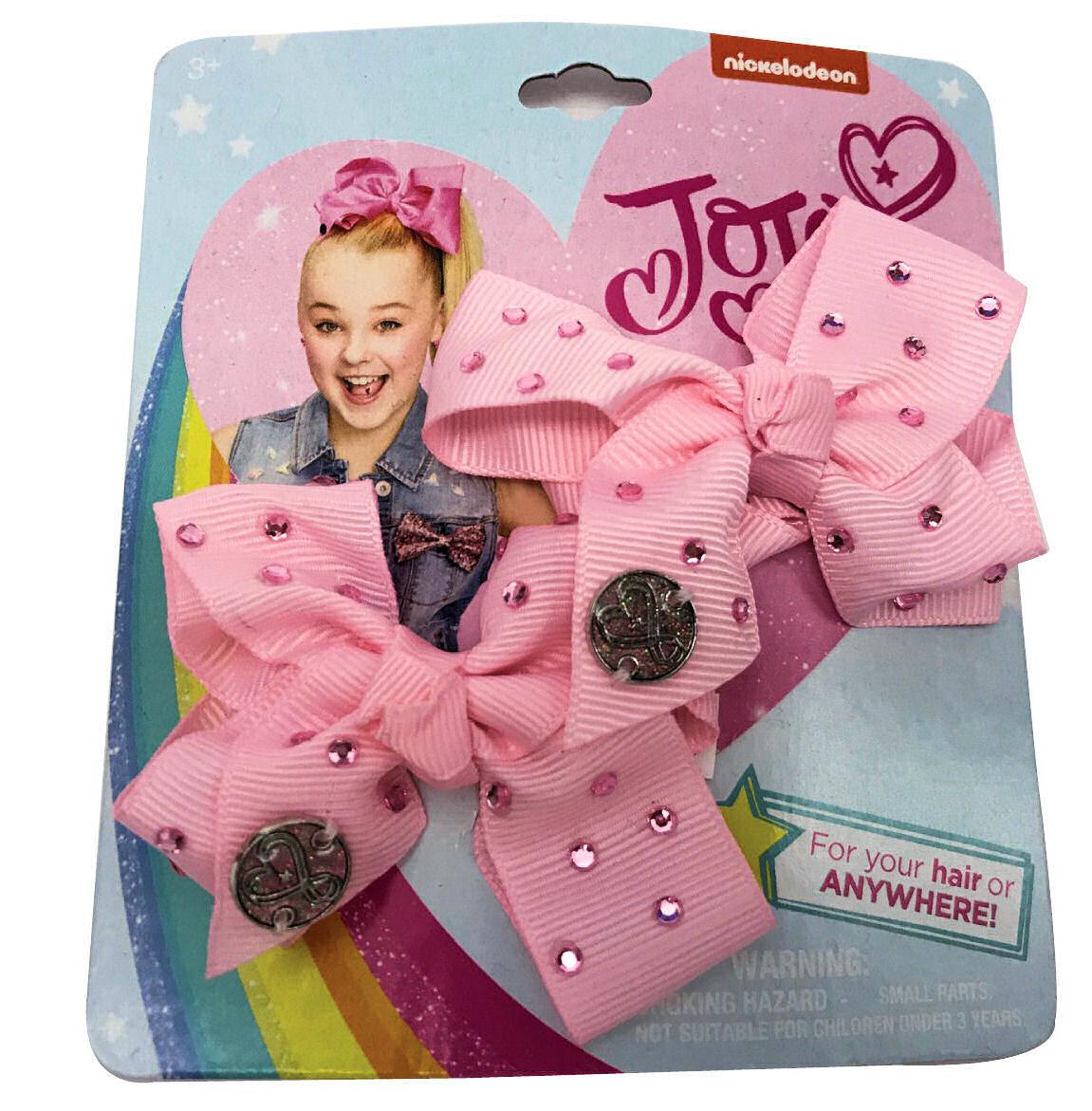 JoJo Siwa Small Hair Bow Set (Pink Rhinestone)