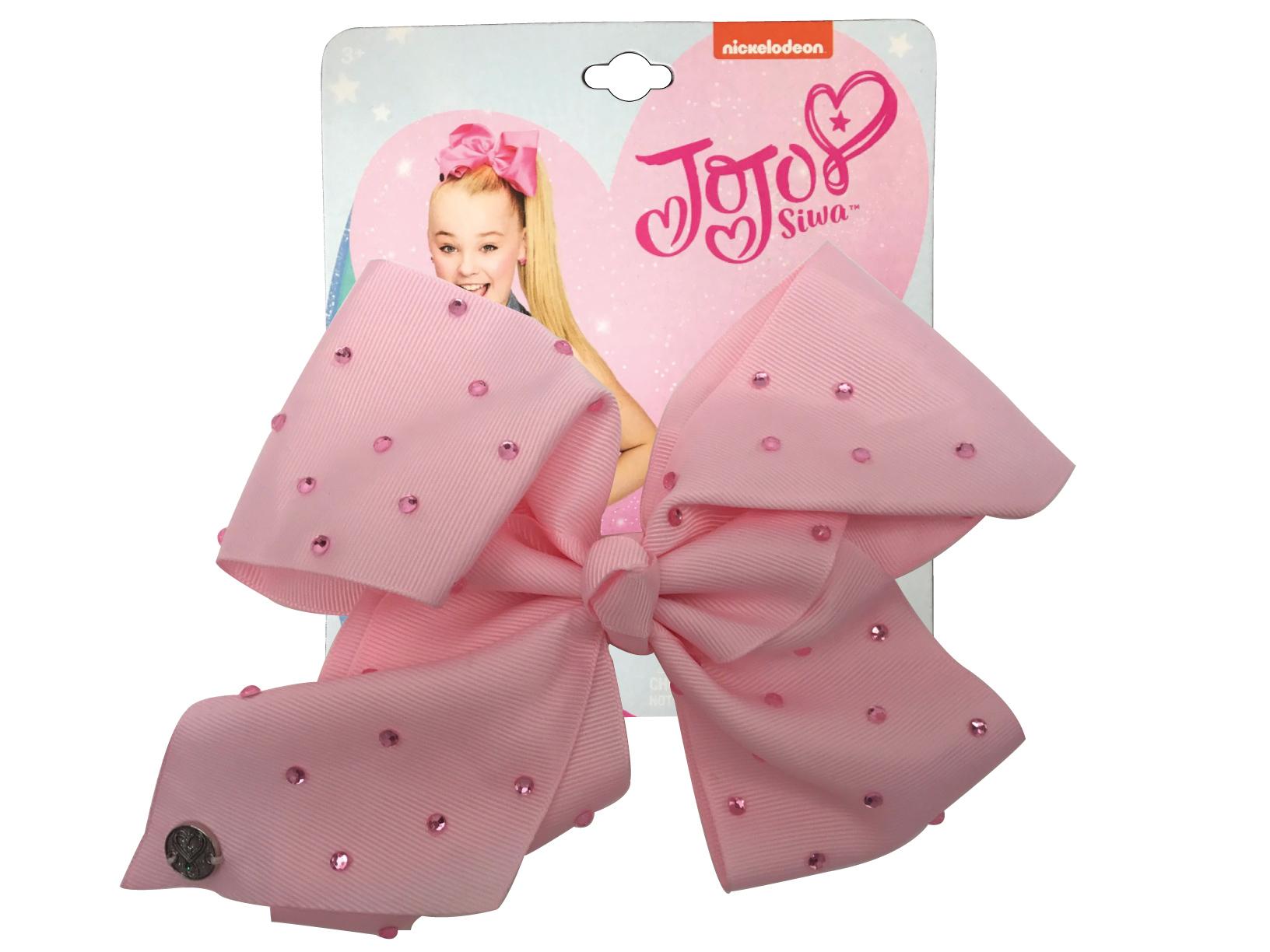 JoJo Siwa Large Cheer Hair Bow (Pink w/Rhinestones)