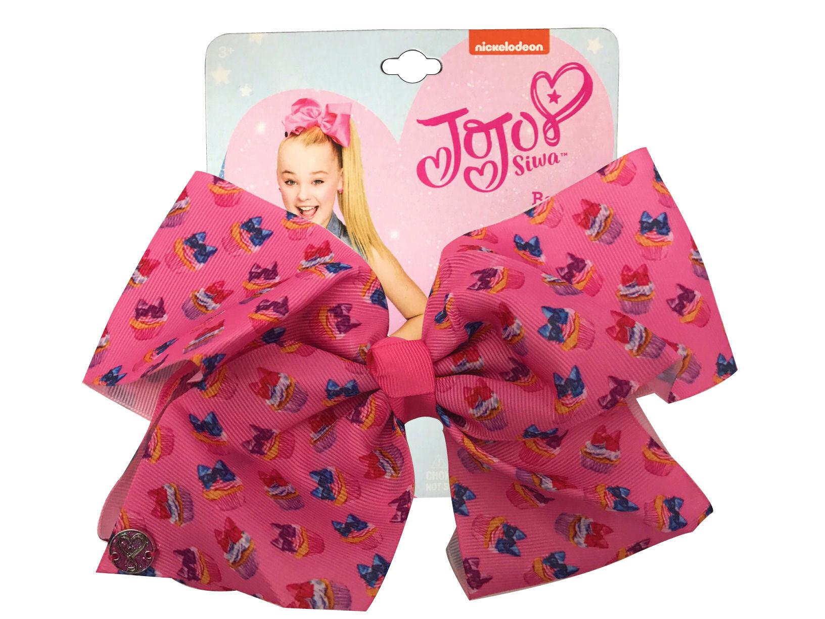 JoJo Siwa Large Cheer Hair Bow (Pink Cupcakes)
