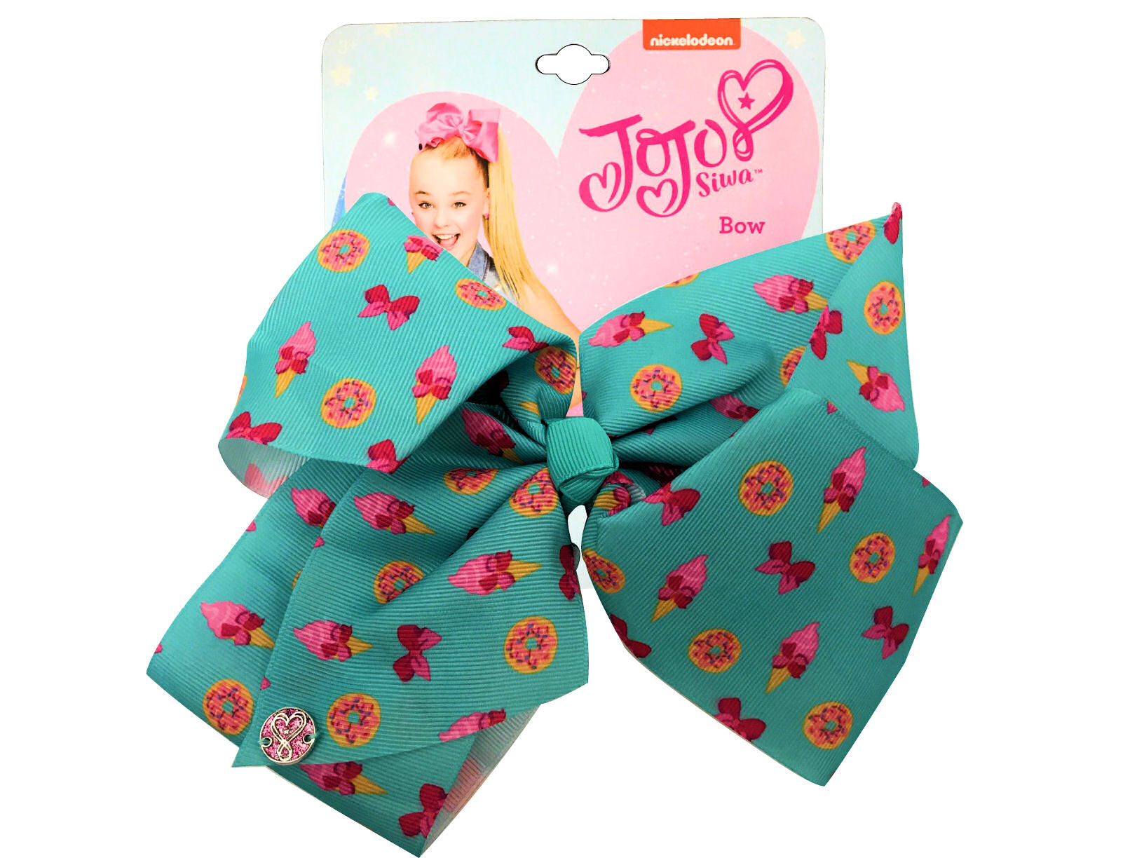 JoJo Siwa Large Cheer Hair Bow (Green Donuts)