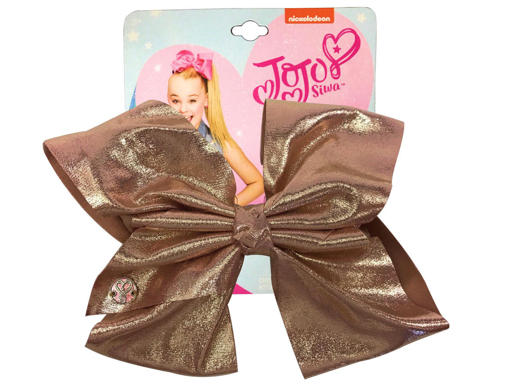 JoJo Siwa Large Cheer Hair Bow (Rose Gold Metalic)