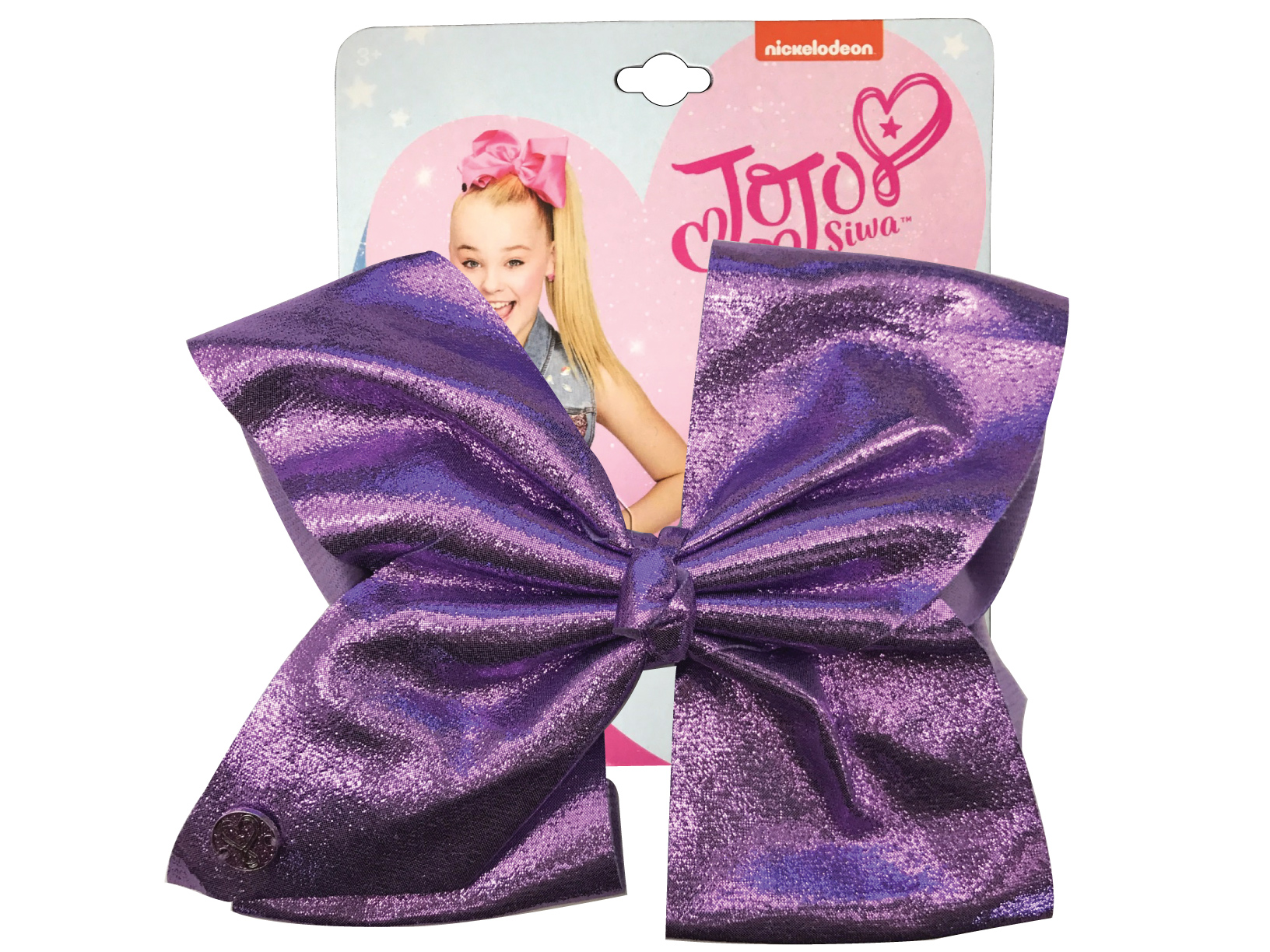 JoJo Siwa Large Cheer Hair Bow (Purple Glitter)