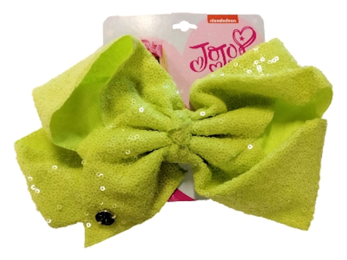 JoJo Siwa Large Cheer Hair Bow (Lime Green Sequined)