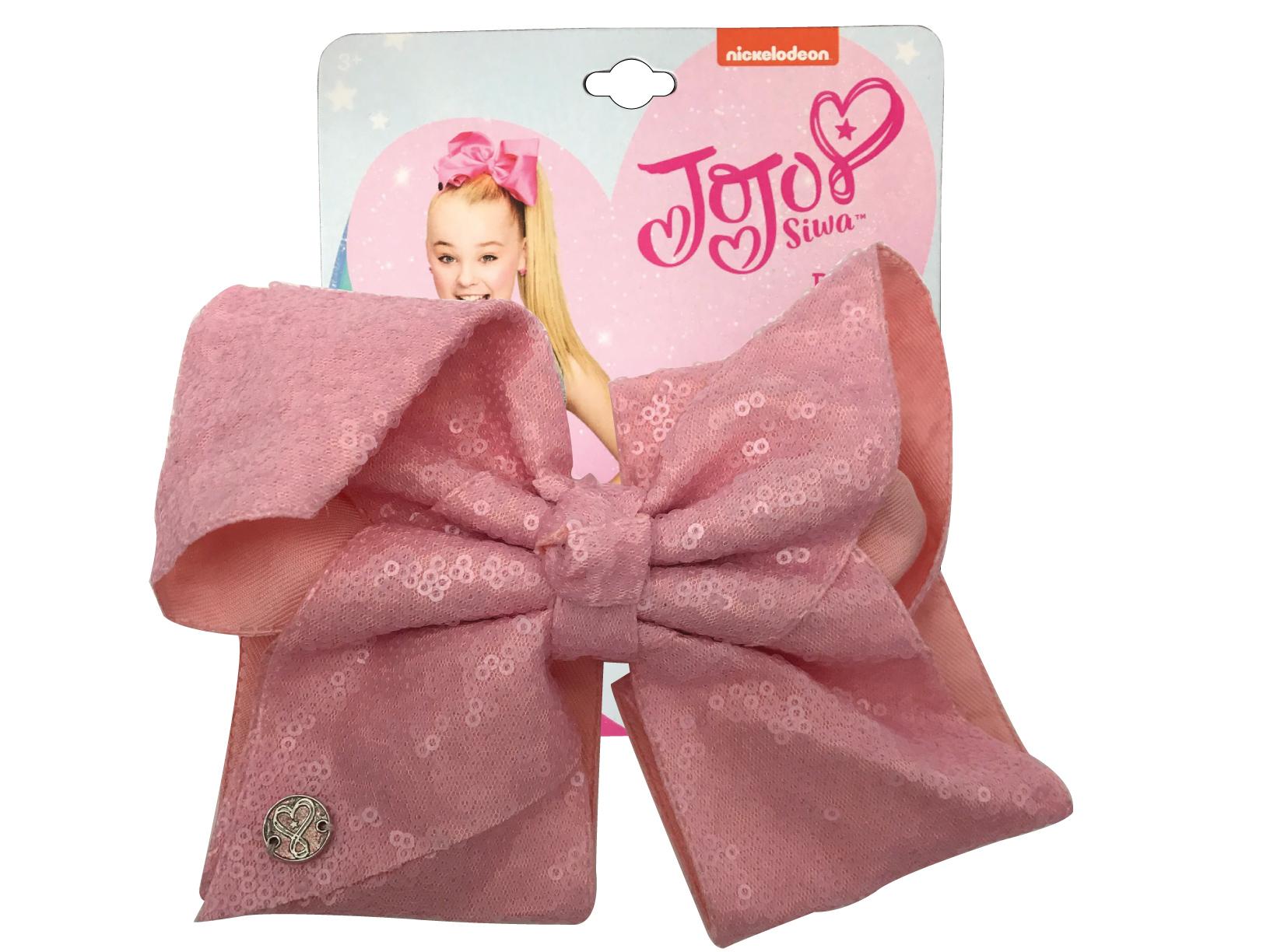 JoJo Siwa Large Cheer Hair Bow (Peach Sequined)