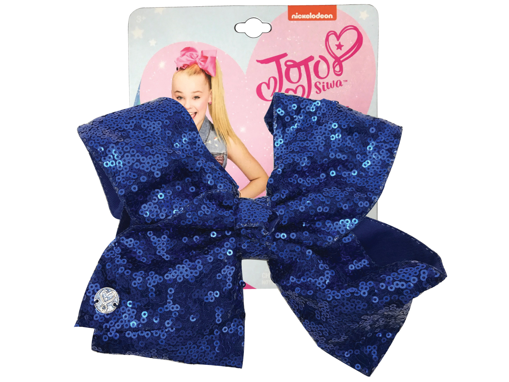 JoJo Siwa Large Cheer Hair Bow (Cobalt Blue Sequined)