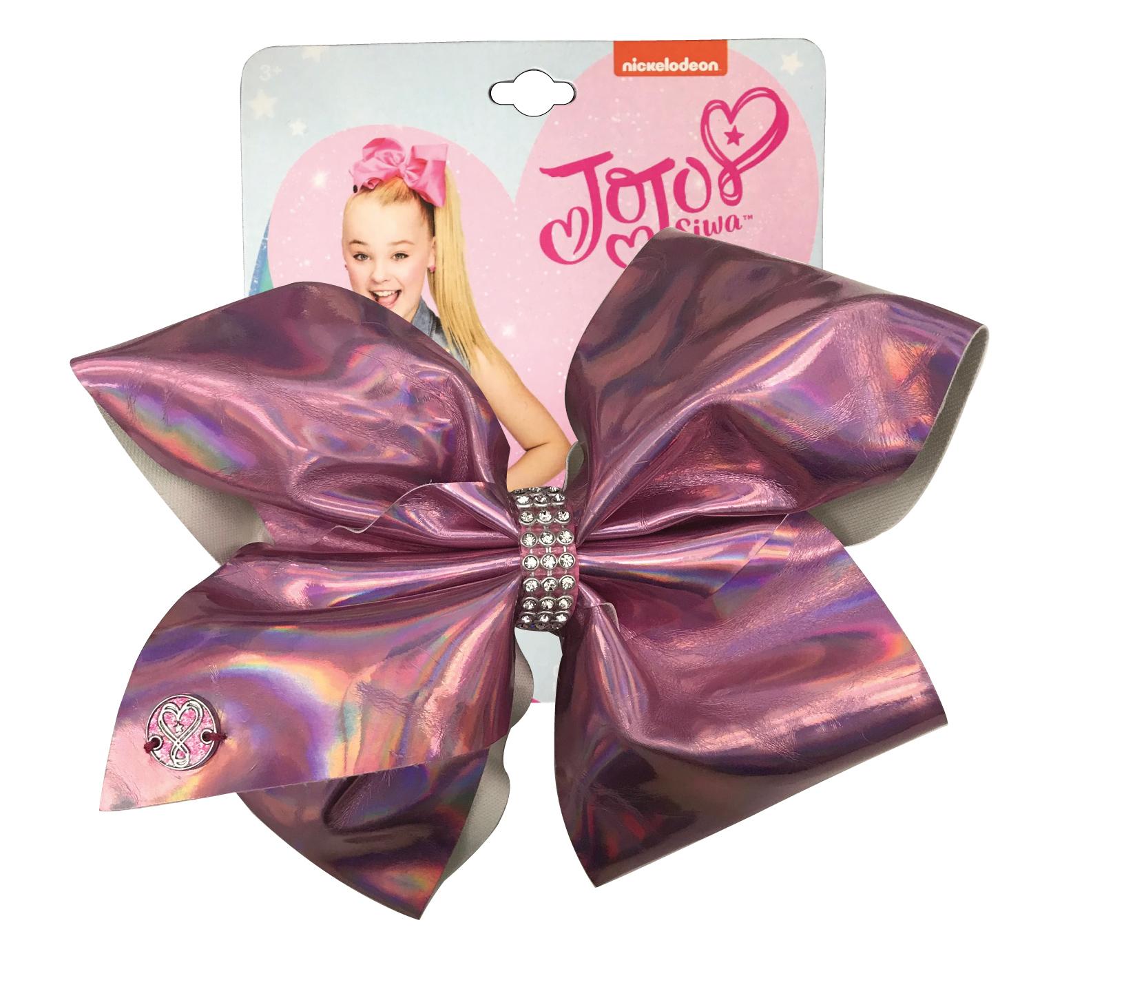 JoJo Siwa Large Cheer Hair Bow (Pink Metallic)
