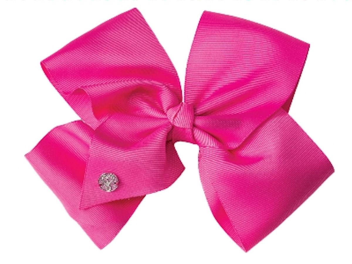 JoJo Siwa Large Cheer Hair Bow (Neon Pink)