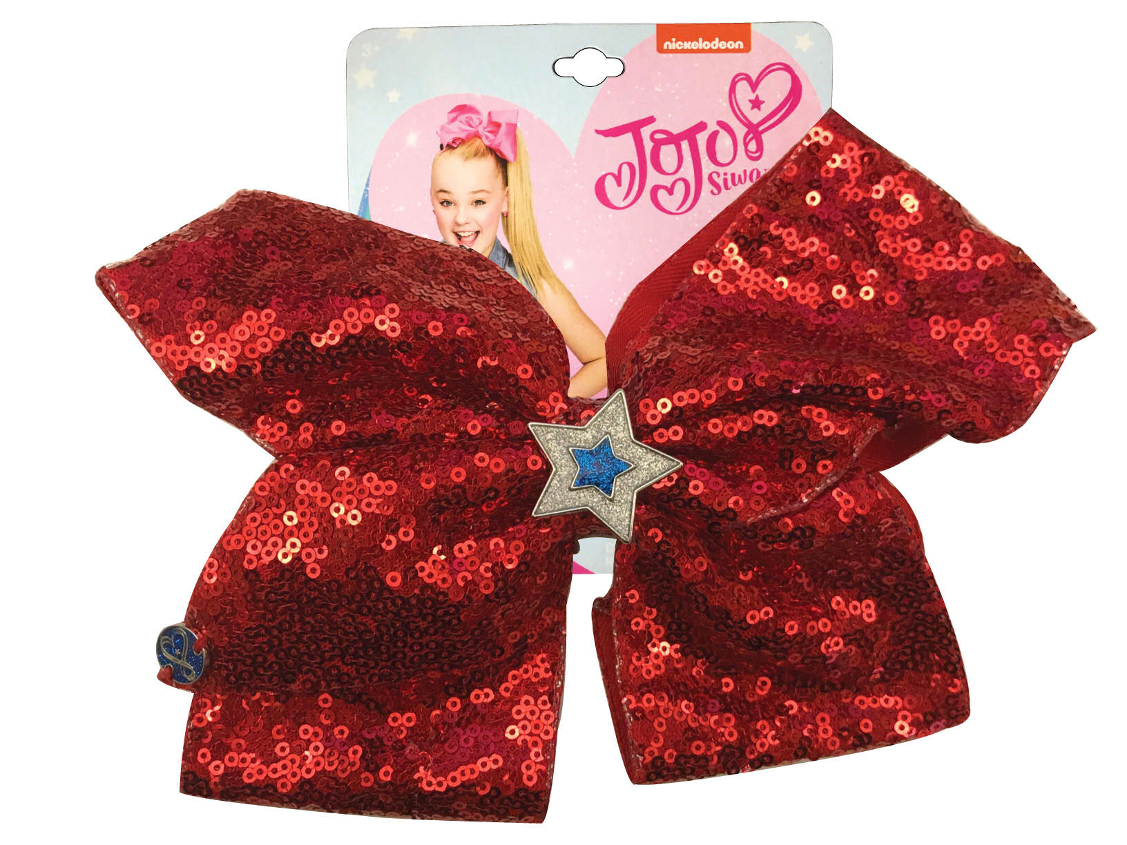 JoJo Siwa Large Cheer Hair Bow (Red Sequined)
