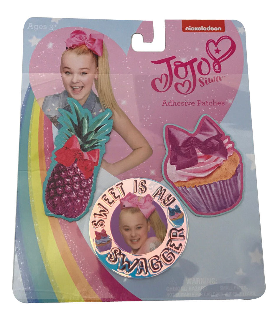 Jojo Siwa Adhesive Patches Sweet is My Swagger Pineapple Cupcake