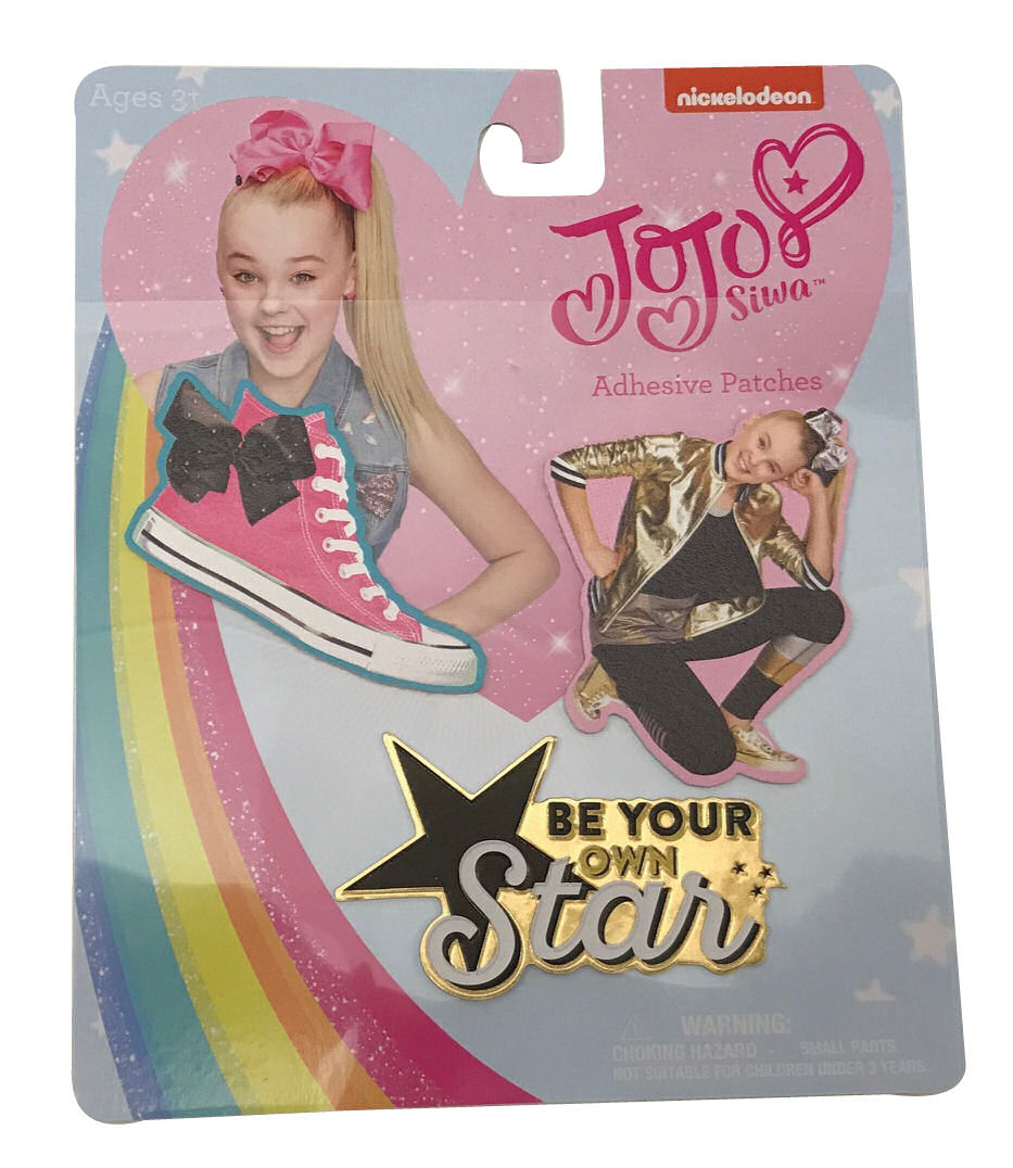 Jojo Siwa Adhesive Patches Be Your Own Star Tennis Shoe