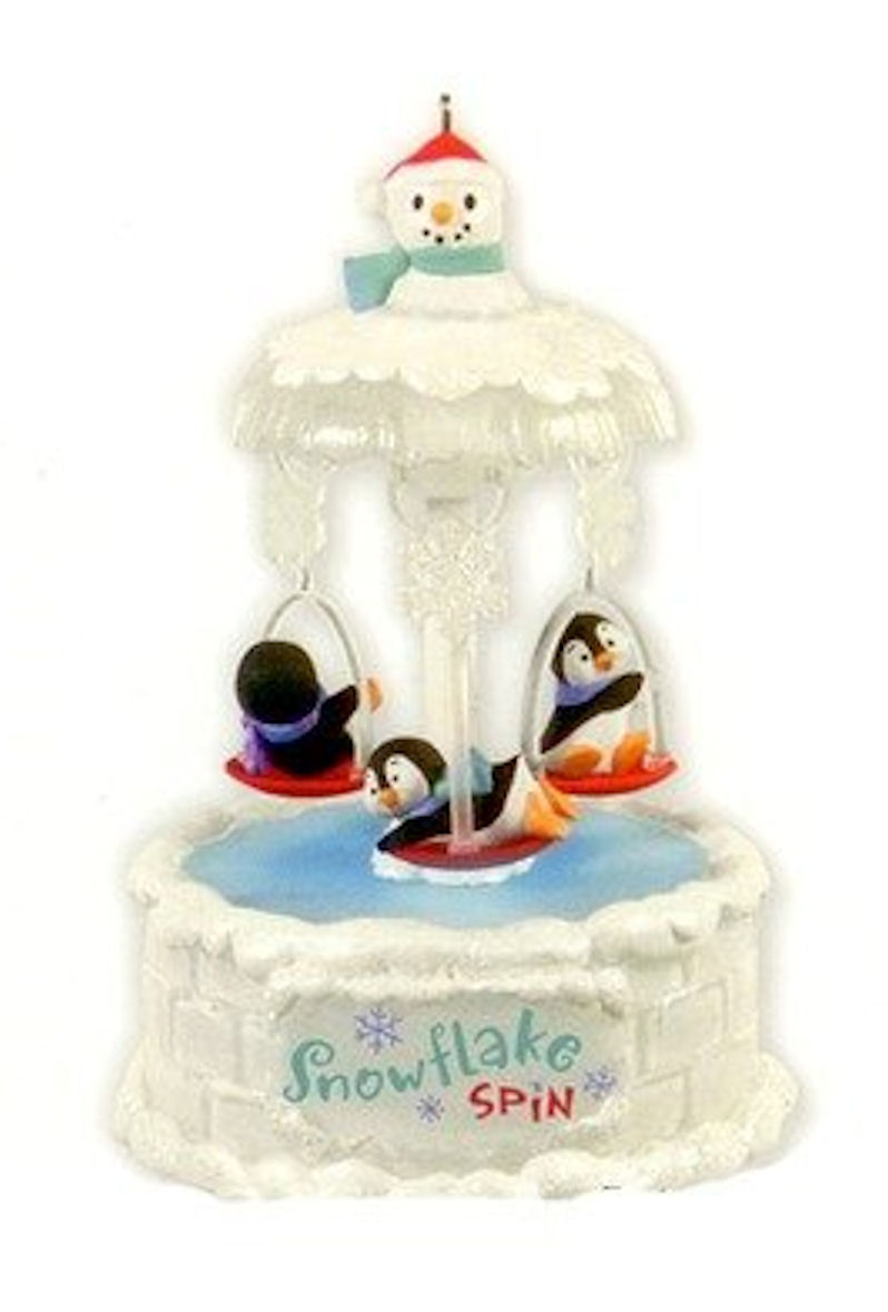 Hallmark Ornament 2012 Snowflake Spin Penguins
