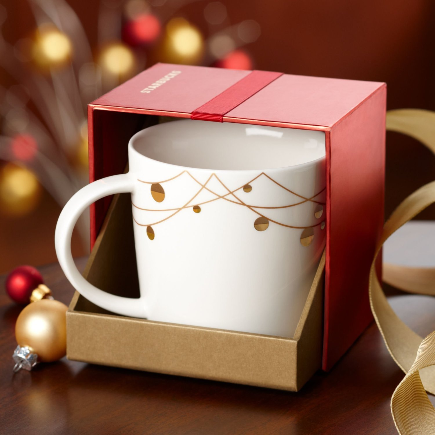 Starbucks String of Lights Boxed Mug 14 Fl Oz