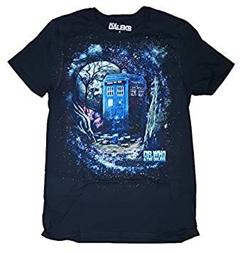 Dr. Who and the Daleks Black Graphic T-Shirt - Medium