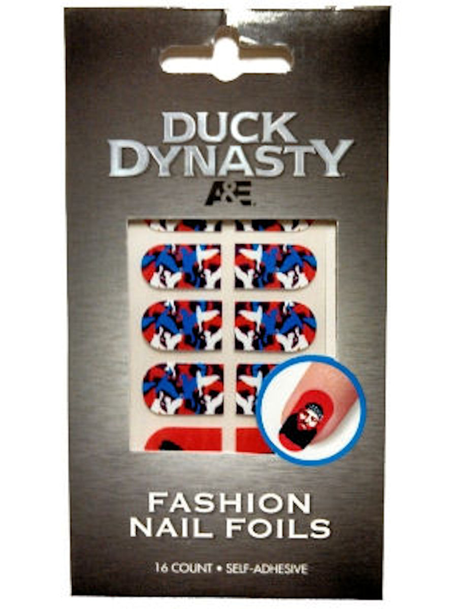 Duck Dynasty Nail Foils Decals (Red White Blue Ducks)
