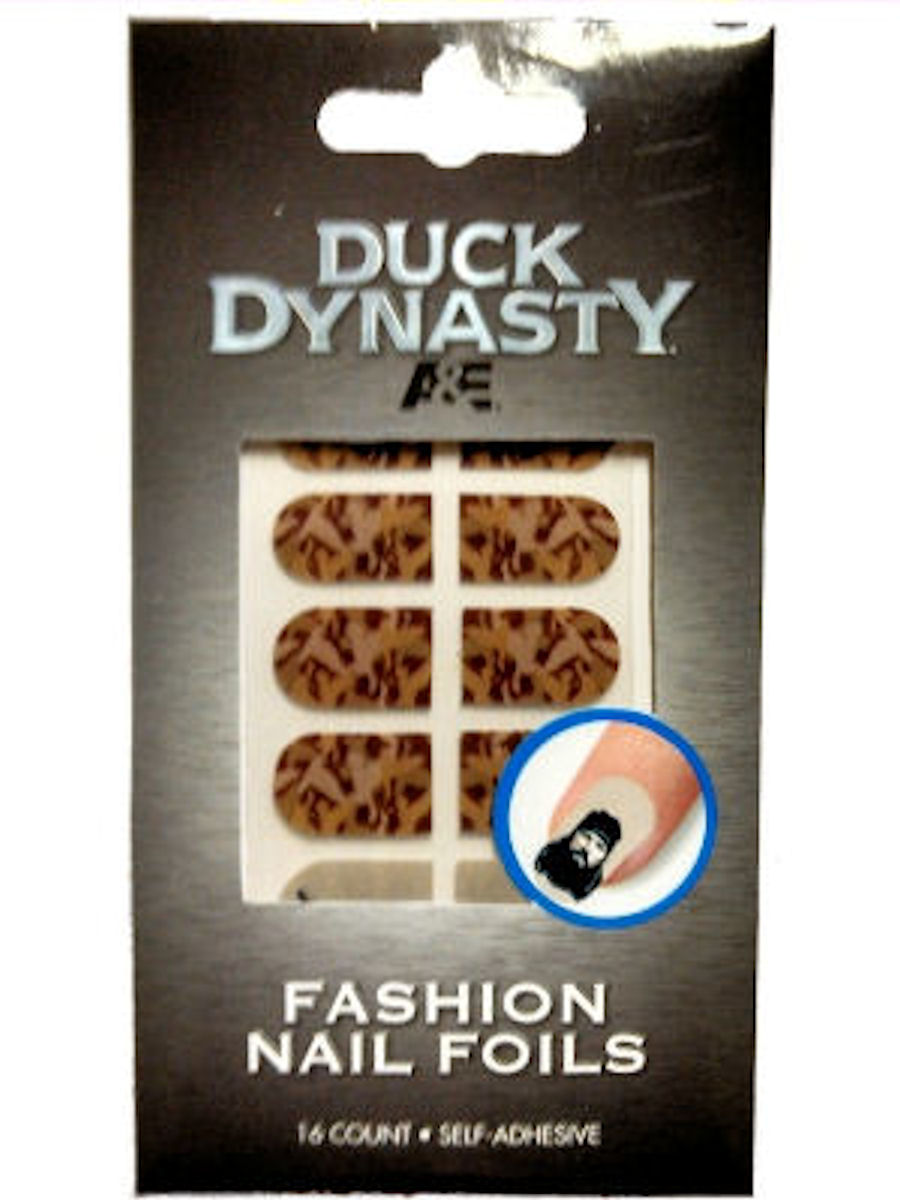 Duck Dynasty Nail Foils Decals (Brown Camo)