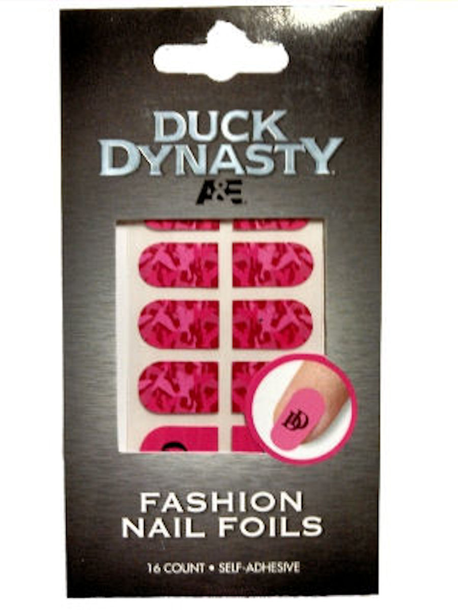 Duck Dynasty Nail Foils Decals (Pink Camo)
