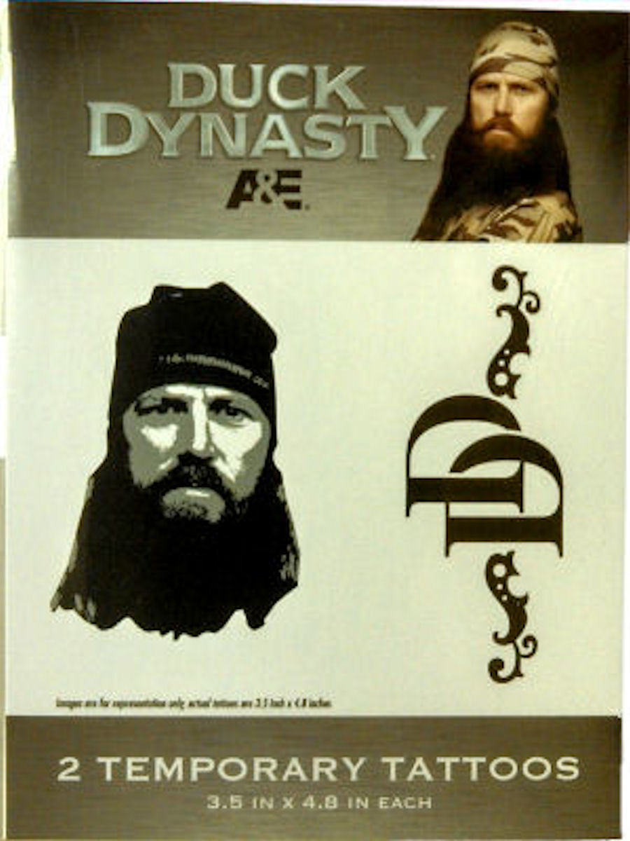 Duck Dynasty Temporary Tattoos (Jase)