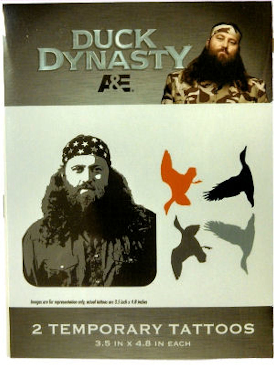 Duck Dynasty Temporary Tattoos (Willie)