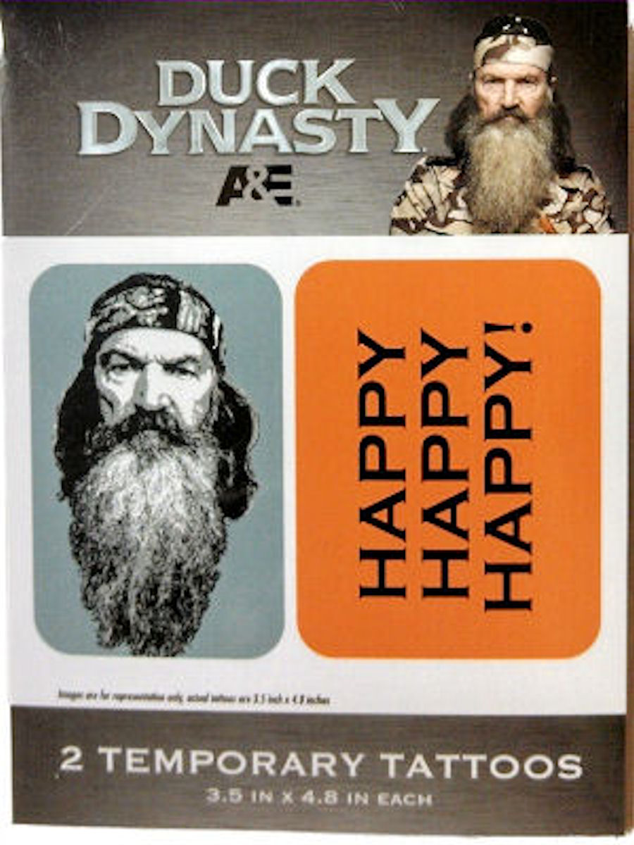 Duck Dynasty Temporary Tattoos (Happy Happy Happy)