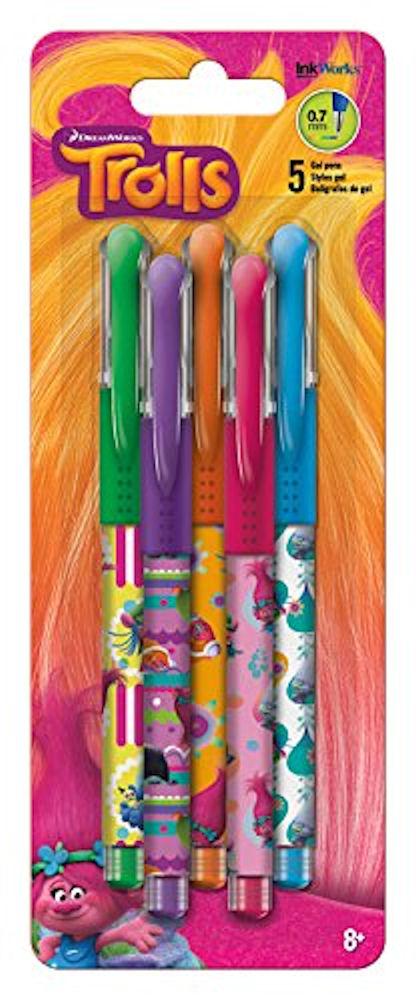 Trends International Trolls Movie Colored Gel Pens (5 Pack)