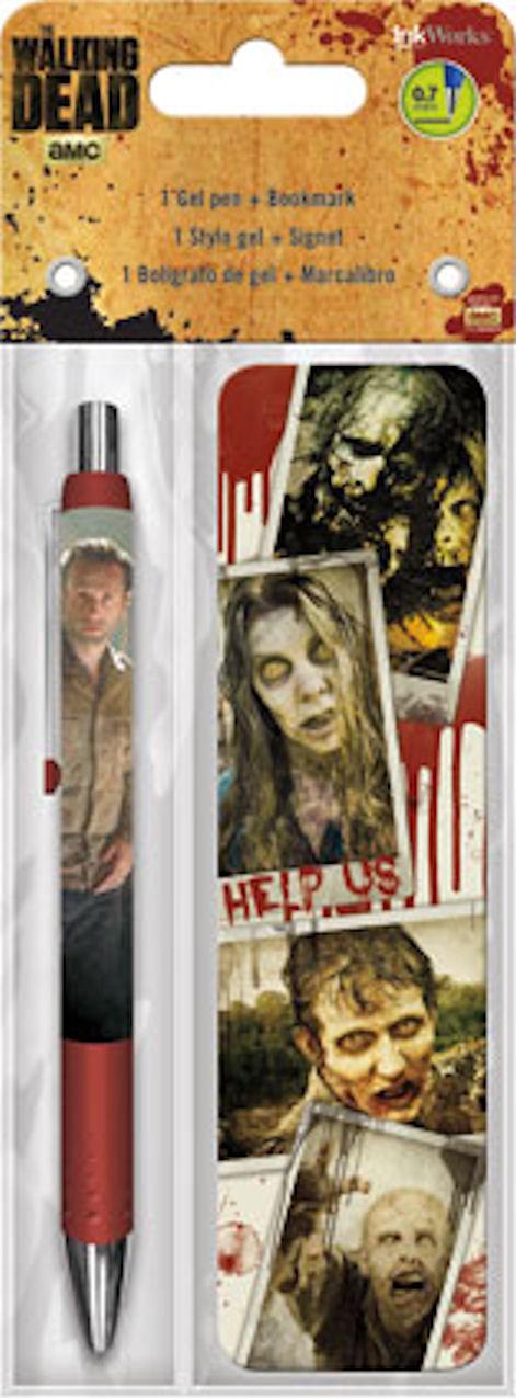 The Walking Dead Gel Pen & Bookmark