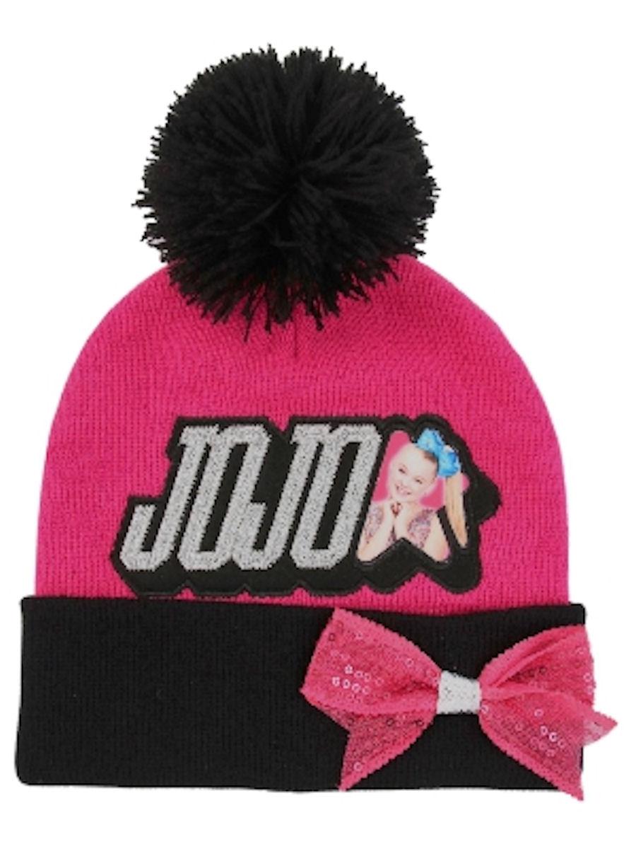 JoJo Siwa Pink Knit Pom Hat