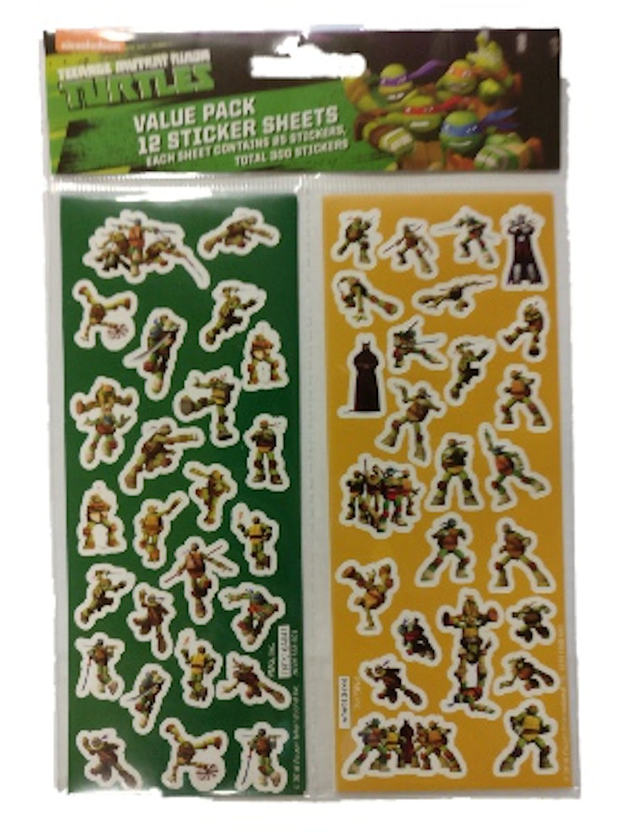 Teenage Mutant Ninja Turtles Sticker Sheets 300 Stickers