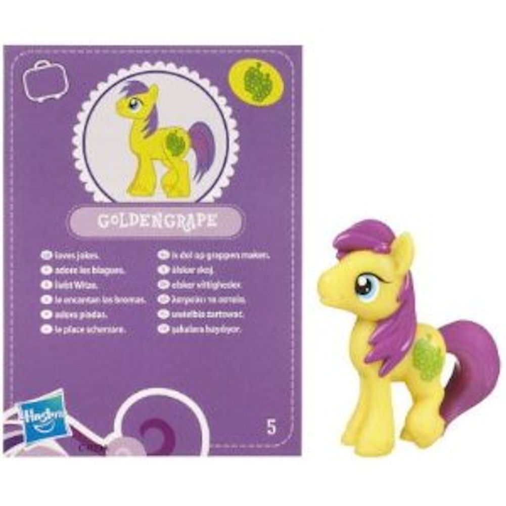 My Little Pony Friendship is Magic 2 Inch PVC Figure Goldengrape Purple Card
