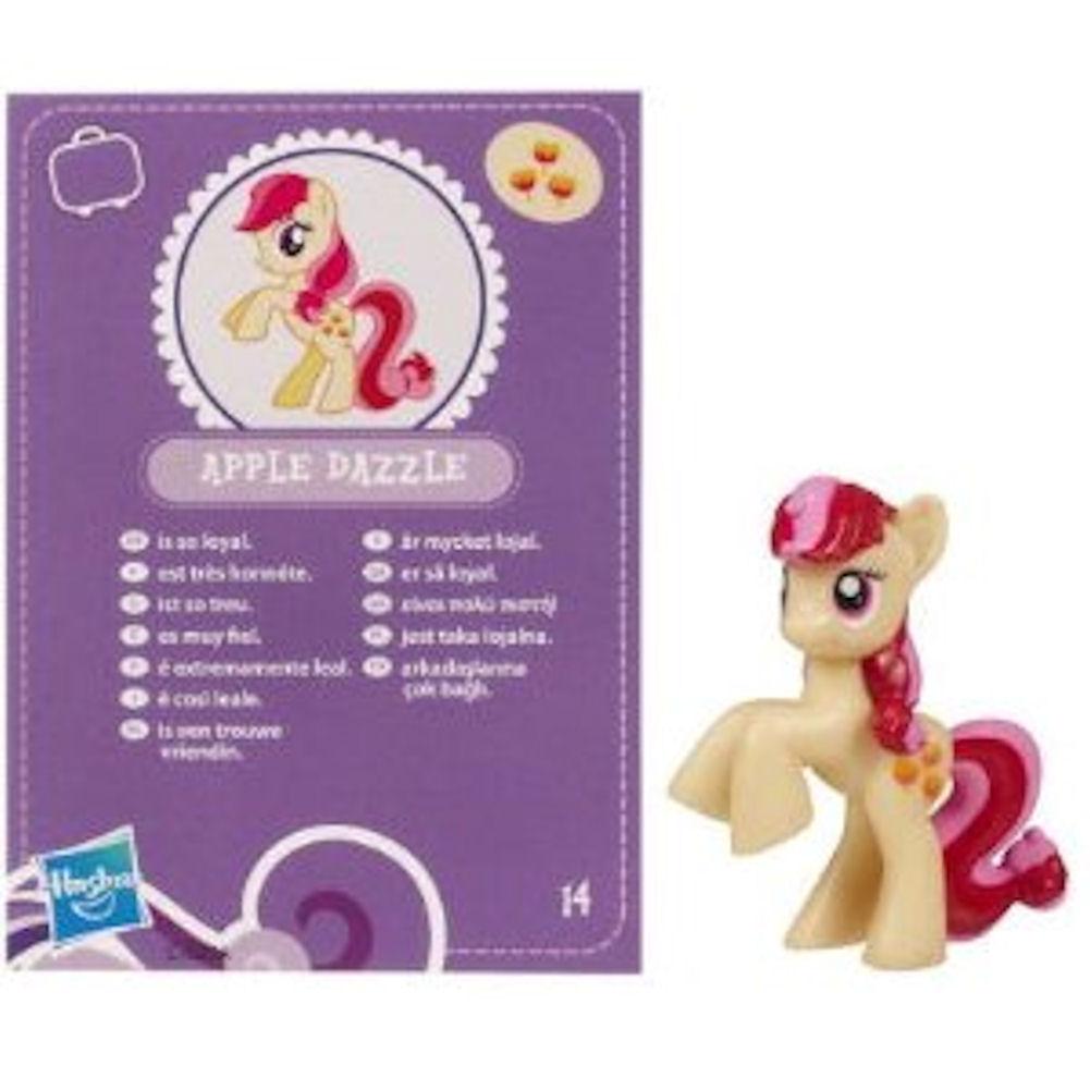 My Little Pony Friendship is Magic 2 Inch PVC Figure Apple Dazzle Purple Card