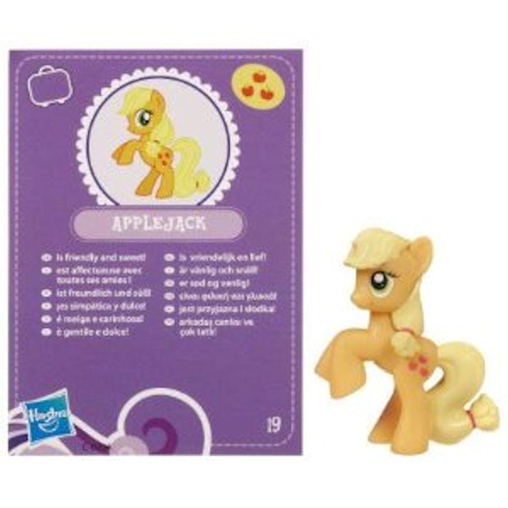 My Little Pony Friendship is Magic 2 Inch PVC Figure Applejack Purple Card