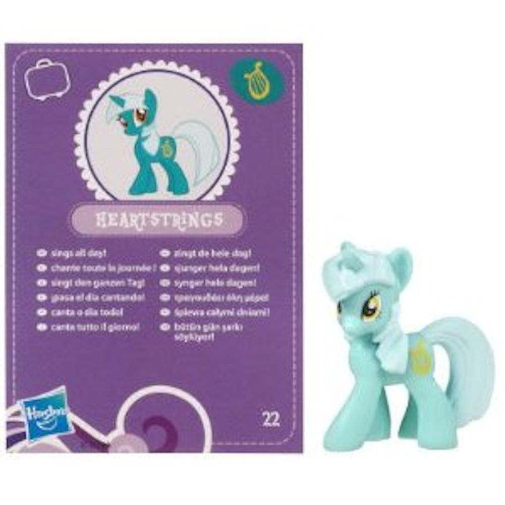 My Little Pony Friendship is Magic 2 Inch PVC Figure Lyra Heartstrings Purple Card
