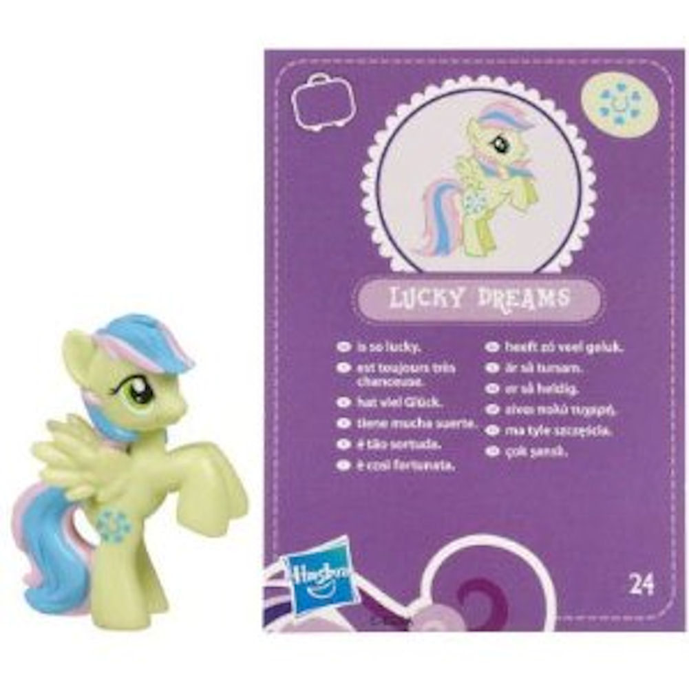 My Little Pony Friendship is Magic 2 Inch PVC Figure Lucky Dreams Purple Card