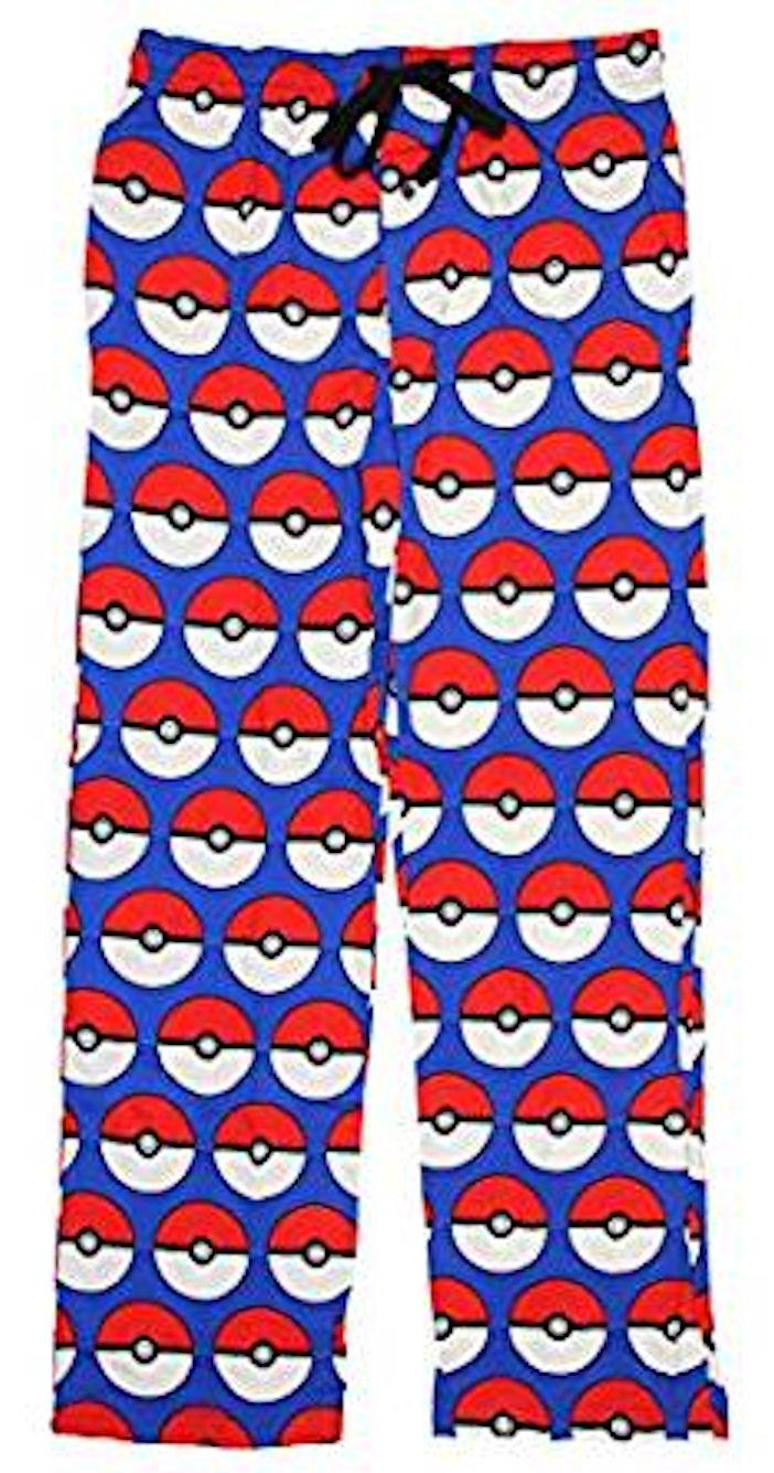 Pokemon Pokeball All Over Sleep Lounge Pants - Large,Blue