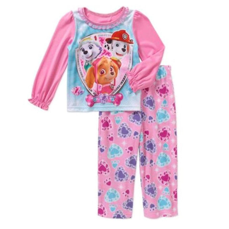 Paw Patrol Toddlers 2-piece Pink Pajama Set (4T)