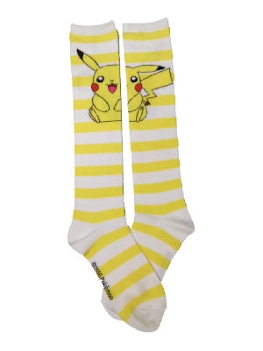 Pokemon Pikachu Striped Juniors Knee High Socks
