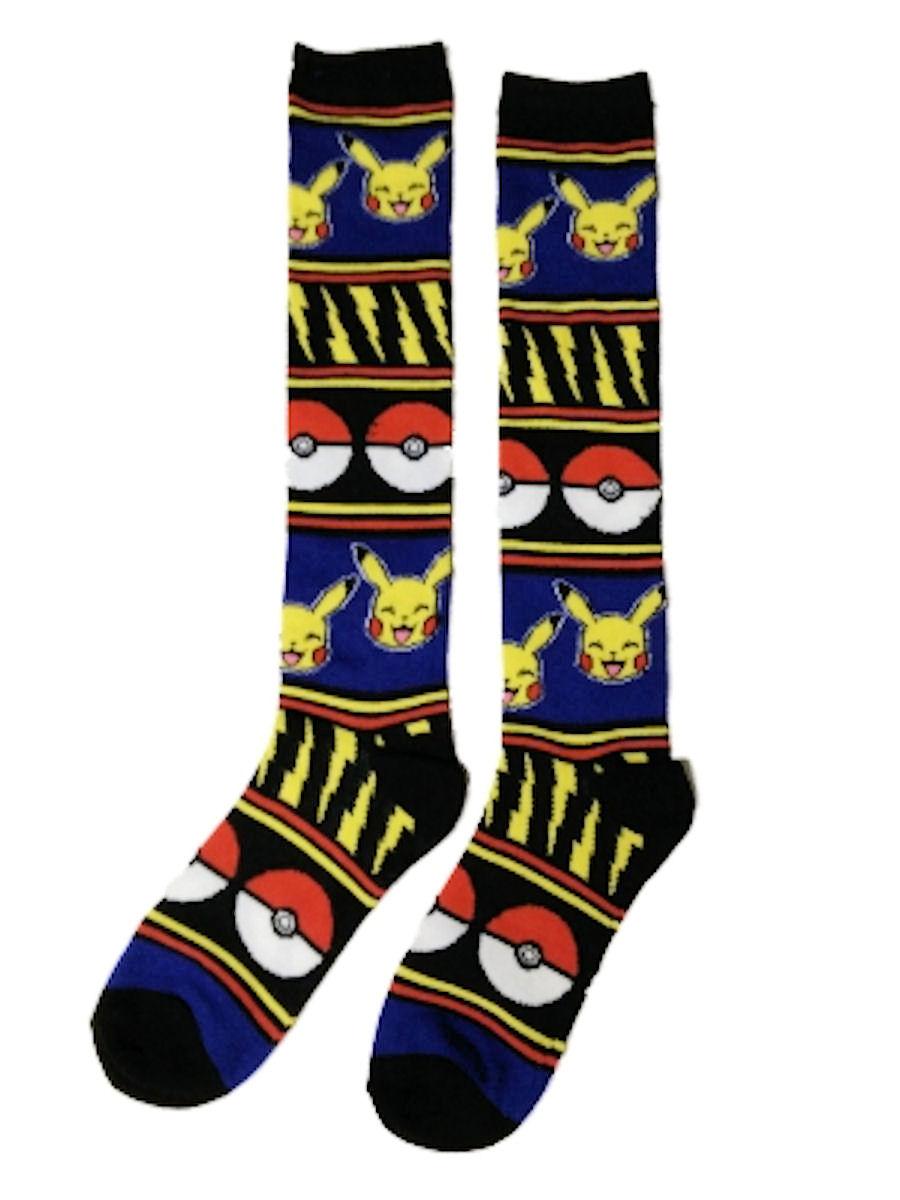 Pokemon Pikachu Pokeball Knee High Juniors Socks