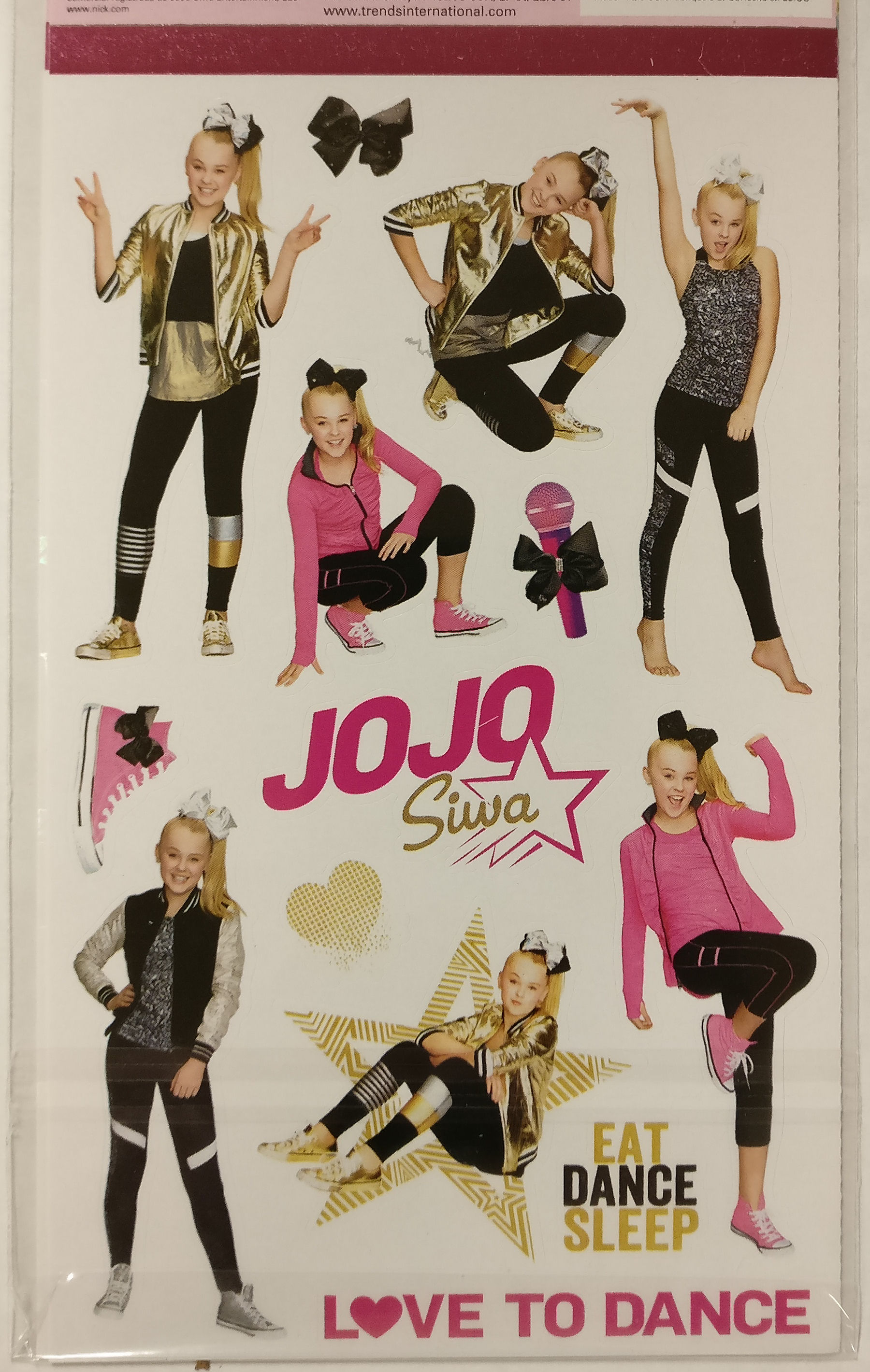JoJo Siwa Sticker Set 4 Sheets