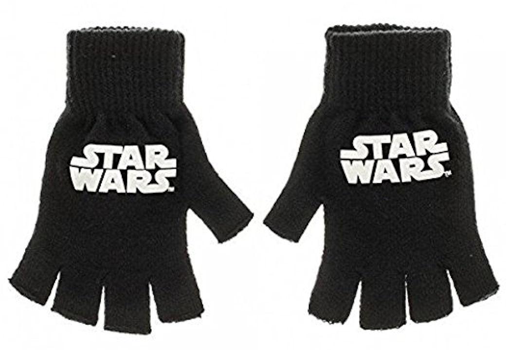 Star Wars Logo Knit Fingerless Gloves