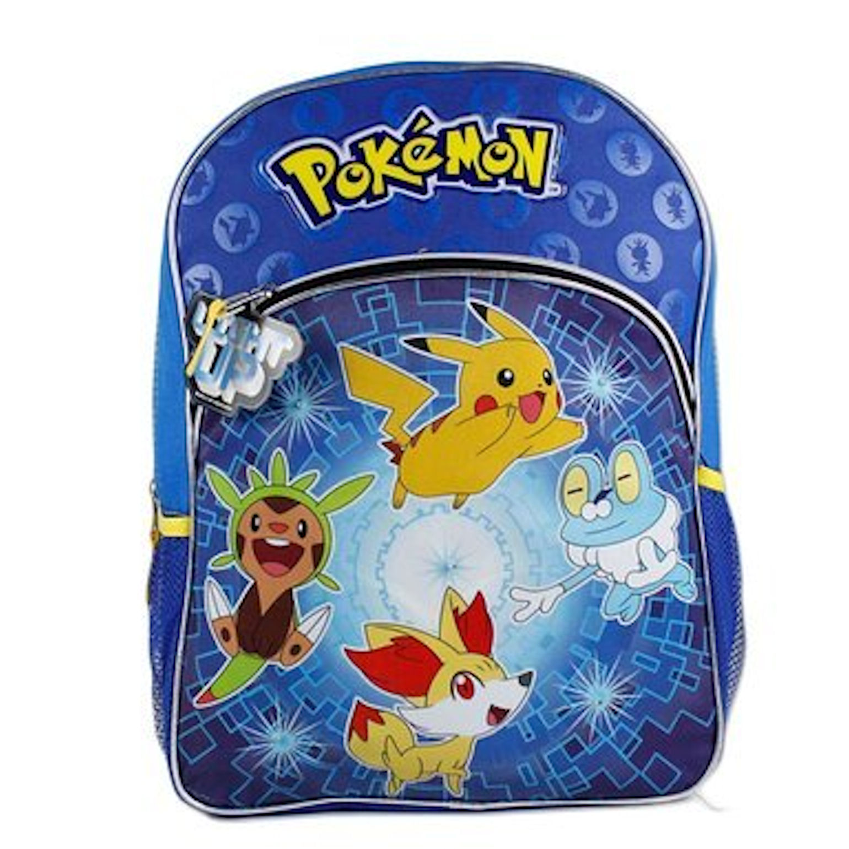 Pokemon X Y Chespin Fennekin Froakie Kid 16 Glowing Light Up Front Backpack Bag