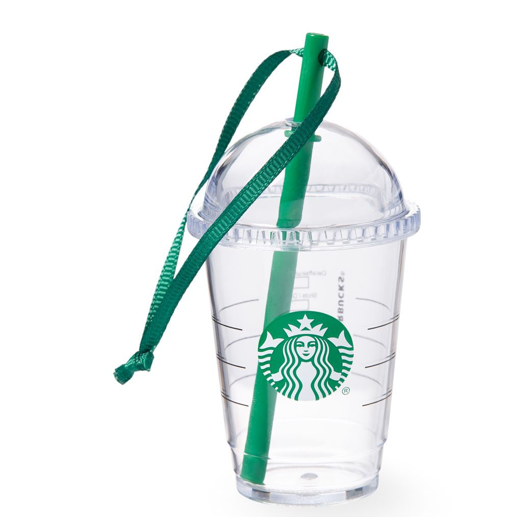 Starbucks 2015 Plastic Cold Cup Ornament