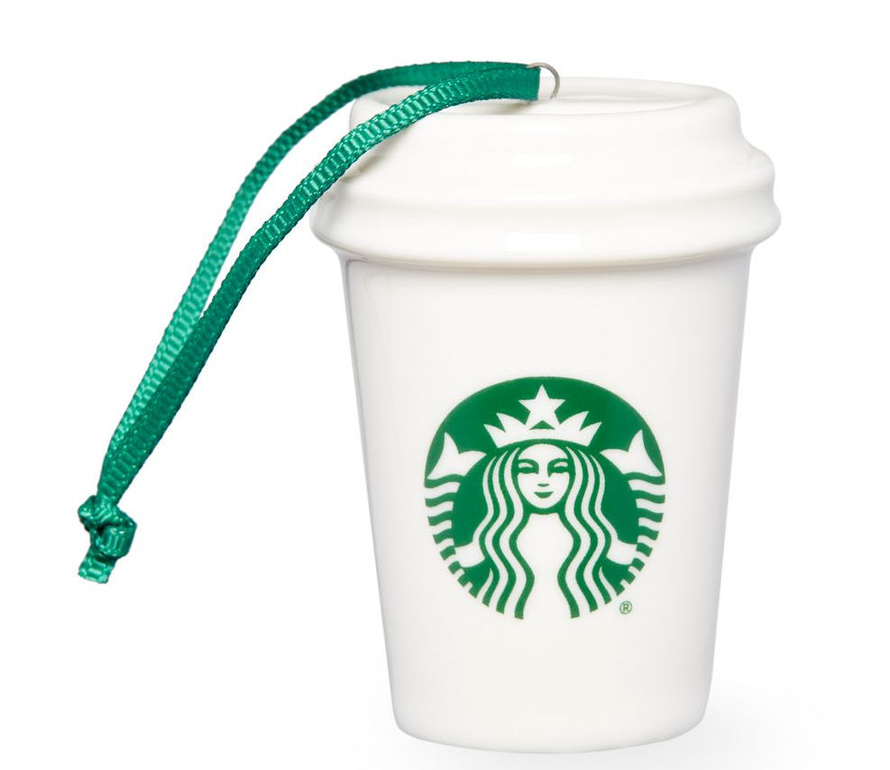 Starbucks Christmas Ornament 2015 White Logo Cup